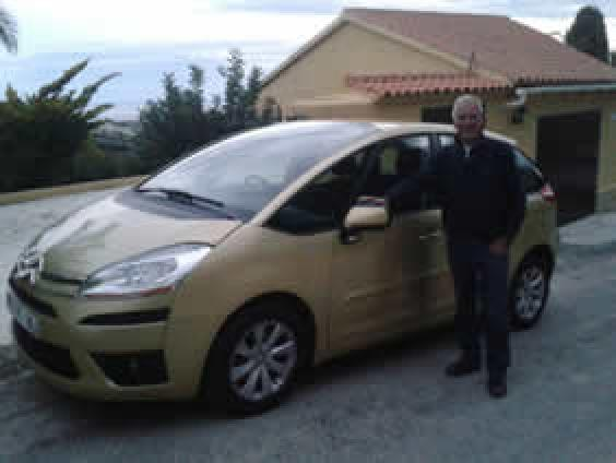 Robert from Altea with his Citroen Picasso